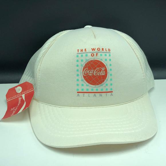 1a4da47941f Coca Cola Atlanta nwt snapback trucker hat retro